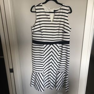 Eloquii Mixed Stripe Dress